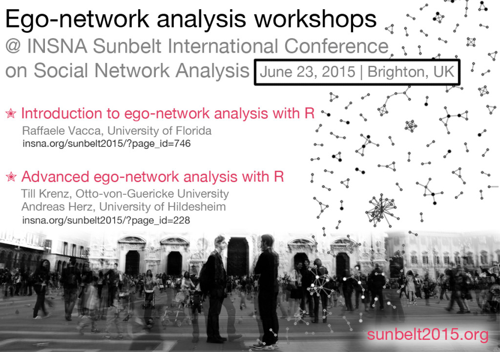 Ego-network analysis workshops at XXXV Sunbelt