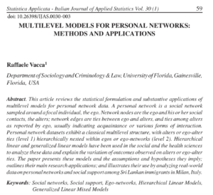 Multilevel Models for Personal Networks